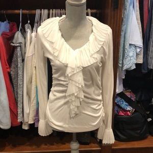 White Cabinet knit Blouse